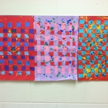 3rd Grade Warm & Cool Color Weavings  at Rosa Parks