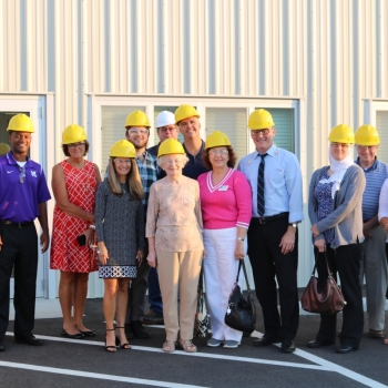Group with hardhats