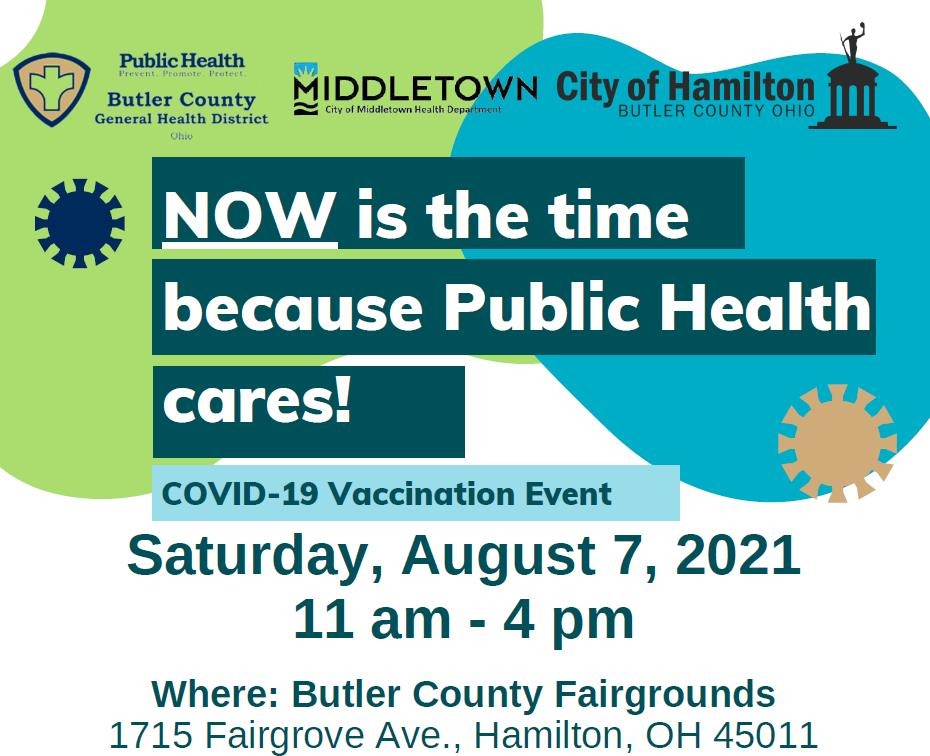 NOW is the time to get vaccinated, because Public Health cares!