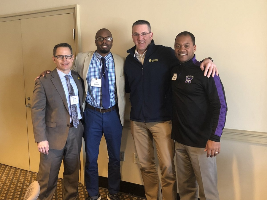 Pictured (L-R): Dr. Brian Troop, Kee Edwards, Nick Polyak, and Marlon Styles, Jr.