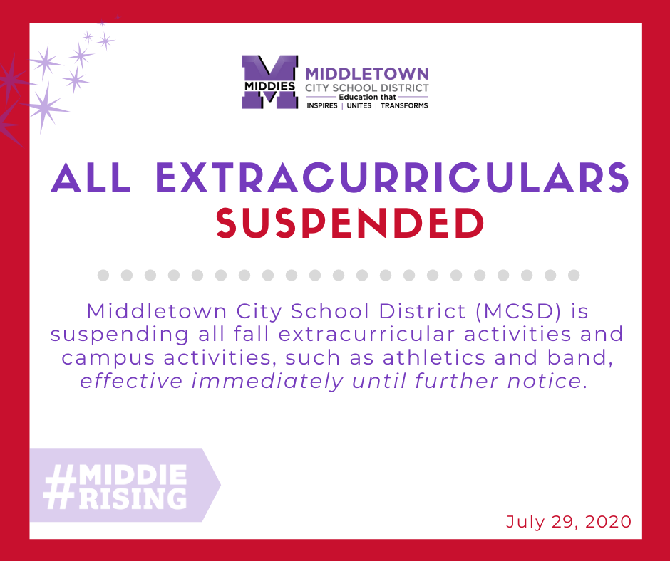 fall extracurricular suspended