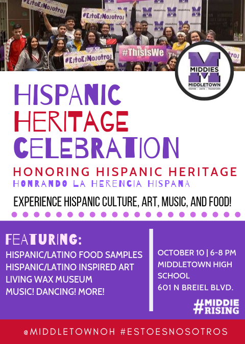 Hispanic Heritage Celebration flyer