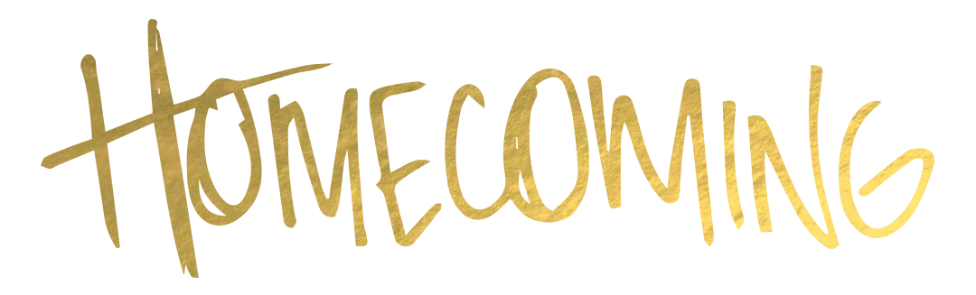 homecoming text graphic