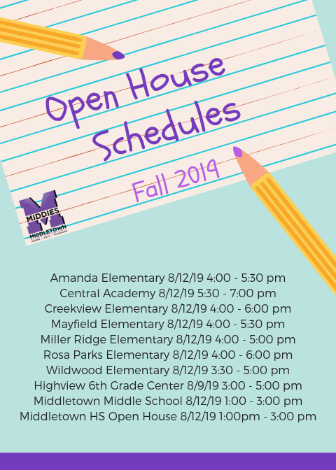 open house schedules