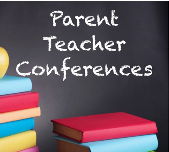 parent teacher conference words with pencils and markers