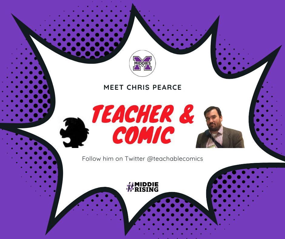Chris Pearce, MHS teacher and comic