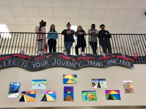 MMS Students with Art