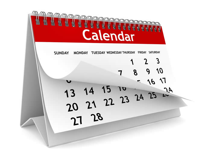 stock image of a calendar page