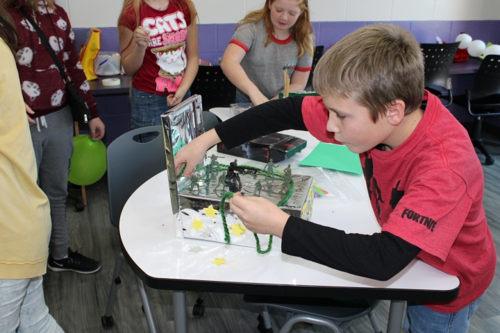 Student in Maker Space